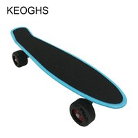 Wholesale 22inch Youngsters adult children skateboard fish long banana board PU Grinding wheels outdoor sports Bodybuilding Single headed