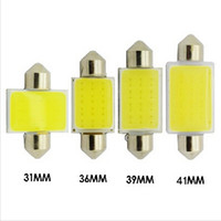 Wholesale car roof fog light led - 41MM 12 Chips COB C5W Car Auto Festoon Dome Interior LED Lights Lamp Map Roof