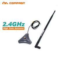 Wholesale High Gain Wifi Sma Antenna - Wholesale- Comfast 2.4G high gain wifi Antenna sma Antenna CF-ANT2410I-SAM 10 dbi Wireless wifi directional Antennas FOR WIFI ROUTER