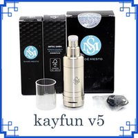 vapor v5 al por mayor-El más nuevo Kayfun V5 RTA Atomizer 316 inoxidable RBA Top Bottom Filling Tank Kayfun cinco V3 V4 Mini Vapor Box Mods DHL ATB513