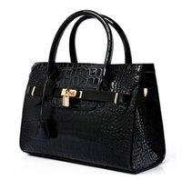 Wholesale Hobo Tote Pattern - Luxury OL Lady Women Crocodile Pattern Handbag PU Leather Tote Hobo Shoulder Bag