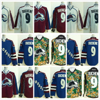 Authentic Stitched Stadium Series Colorado Avalanche 9 Matt Duchene 29 Nathan MacKinnon 1 Varlamov Ice Winter Jersey Jerseys de hockey bon marché