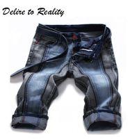 Wholesale Denim Shorts 38 - Summer Mens Short Jeans Plus Size 38 40 42 44 Men's Denim Shorts For Men Hip Hop Punk Shorts Fashion Designer Clothing