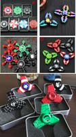 ingrosso giocattoli di ceramica dei bambini-Colorful Rainbow Fidget Spinner Crab The Avengers Spinners a mano per ansia da decompressione in metallo con cuscinetti a sfera in ceramica EDC HandSpinner Toys