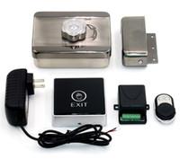 Wholesale Door Open Switch - Wholesale- Door Access Control System Wireless Remote Control+Opening Door Switch Button+Electronic Door Lock Intercom Lock
