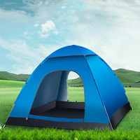 Wholesale Double Layer Tents - New Outdoor Camping Fishing Tent 3-4 person Fully automatic Tent Double-layer Waterproof Portable tent Camping Traveling Pest Proof