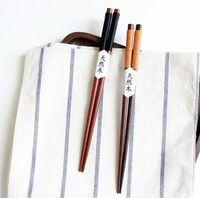 ingrosso bacchette fatte a mano-Bacchette di legno riutilizzabili di alta qualità con antiscivolo Linea anti-skid Bacchette coreane giapponesi cassia siamea lam confezione regalo fatto a mano cinese