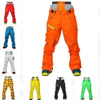 Wholesale Green Pants Men Christmas - NEW ARRIVAL! 2016 Cotton Thermal Ski Snowboard Pant Men Camping Hiking Mountain Sport Male Trousers Waterproof Snow Clothing Skiing Wear