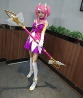 Wholesale Uniform Skin - lol new Skin Star Guardian Lux cosplay costume for girls Cosplay Uniform Halloween Costumes