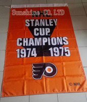 Wholesale Flag Cups - Philadelphia Flyers 2 Time Stanley Cup Champions Flag hot sell goods 3X5FT 150X90CM Banner brass metal holes PF06