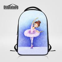 Wholesale Laptop Bags For Women Girls - Brand Designer Laptop Backpack For Women Daily Bagpacks Ballet Girl Print School Bags For Teens Girls Bookbag Mochila Female Rucksack Rugtas