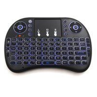 Commercio all'ingrosso - Mini tastiera senza fili di telecomando con il retrocavo 2.4GHz Qwerty Touchpad Air Mouse per HTPC PS3 Xbox360 TV Box Computer portatile Tablet