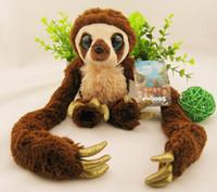 Wholesale Croods Monkey Belt - Wholesale- 25-65cm Original single long arm Croods The Croods belt monkey monkey plush toy doll doll 1pcs