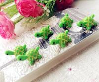 ingrosso mini figurine-20 Pz carino verde tartaruga animali fairy garden miniature mini gnomi moss terrari in resina artigianato figurine per la decorazione del giardino