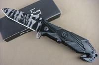 Wholesale Aluminum Faces - Boker X17 assisted folding knife (camouflage) Aluminum Handle 440C 57hrc bar pattern face knives 1pcs freeshipping