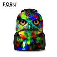 Wholesale Kids Tiger Backpack - Wholesale- FORUDESIGNS Cool Men Animal Backpack Vintage Compact Children Backpacks for Teenage Boys Owl Tiger Head Kids School Bagpack