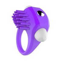 Wholesale Cock Clit - Vibrating Cock Ring Soft Silicone Penis Ring Clit Stimulation Vibrator for men Penis Delay Ejaculation Cockring Couples Sex Toys