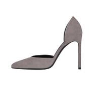 Wholesale Cotton Gray Fabrics Party - Zandina Womens Fashion Handmade D'orsay Slip-on Shoes 10cm High Heel Pointed Toe Party Prom Dress Shoes Gray