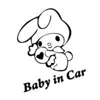 ingrosso nuove decalcomanie auto carine-Nuovo stile Car Sticker Creativo Cute Cartoon Ricorda Baby In Car Tail Car Styling Interessante Vinyl Decal Decor