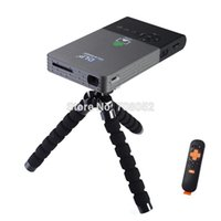 Wholesale Desktop Business - Wholesale-Mini FULL HD DLP Bluetooth Projector LED lamo 5G Wifi(AP6330) BT4.0 HDMI USB VGA Throwing Back Projectrion Desktop Home Theater