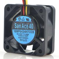 Wholesale Fanuc Cnc - SANYO 109P0424H7D28 24V 4CM 4015 for Fanuc CNC machine tool cooling fan