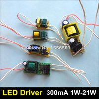 Wholesale Transformer Power 1w - Wholesale- 10pcs lot 1W 3W 4W 5W 7W 9W 10W 12W 15W 18W 20W LED Driver Lamp High Power Supply Lighting Transformer AC 110V 220V Output 300mA