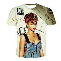 Wholesale Wholesale Marilyn T Shirts - Wholesale- Alisister new fashion women t shirt 3D sexy rihanna marilyn Miley Cyrus t-shirt pink&blue&green 3d rose shirt camiseta feminina