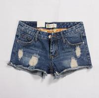 nuevo material de jeans al por mayor-El mejor regalo de verano nuevas mujeres de gran tamaño de grasa mm pantalones cortos de mezclilla femenina esquinas pantalones vaqueros de las mujeres pantalones vaqueros cortos JW044 Jeans de las mujeres