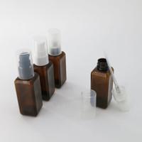 Wholesale Brown Shampoo - 50pcs 50ml Empty Amber Pet Plastic Lotion PumpBottle 50cc Brown Shampoo Cosmetic Container