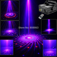 Wholesale Big Red Laser - Wholesale-New Red Blue Laser 12 Big Patterns Blue LED Club Home Holiday Party Bar Xmas DJ Light Dance Disco Party Stage Lights show B179