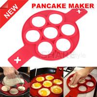 geléia de borracha fda venda por atacado-Non Stick Flipper Pancake Pan Perfeito Pequeno Almoço Maker Omelete Omelete Flipjack Ferramenta