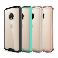 Wholesale Droid Pc - Case For Moto E3  G5  G5 Plus Cover Crystal Clear Transparent Acrylic TPU PC Anti-knock Hard Back Cover For Moto Z Droid  Force