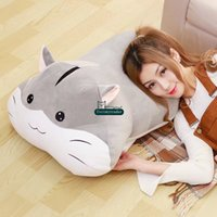 Wholesale hamsters babies resale online - Dorimytrader New Lovely cm Giant Soft Cartoon Hamster Plush Doll inches Stuffed Anime Toy Pillow Baby Present DY61561