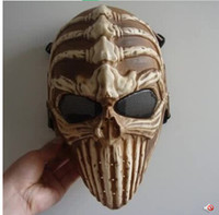 Wholesale Riders Mask - Wholesale- Halloween Horror Demon Mask Ghost Rider Skeleton Masks Special Skull Protective Helmet Masquerade Party Field Game Props