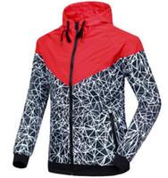 Wholesale Men S Fall Jackets - Spring And Fall new men's sports jacket hooded jacket Men casual Fashion Thin Windbreaker Zipper Coats Free Shipping