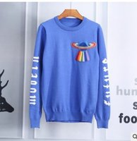 Wholesale Hottest Men S Sweater Fashion - Hot sale Autumn and winter bursts of long - sleeved sweater men 's fashion spacecraft embroidery plans sweaters casual and personality suit