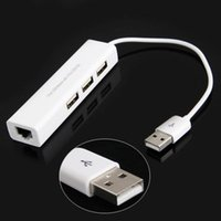Wholesale Micro USB HUB to RJ45 Network Card LAN Adapter Ethernet Mbps With Port usb2 HUB for Android tablets