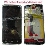 Wholesale Xl Digitizer - Wholesale- Original LCD Display+Touch Screen Digitizer Panel+Frame Assembly for Huawei Ascend D D1 Quad XL U9510 U9510E Completely Black