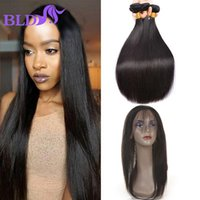 Black Friday Sale 360 ​​Lace Frontal Com Pacote Straight Malaysia Virgin Hair Com Fechamento Econômico Cabelo Humano Bundles With Closure