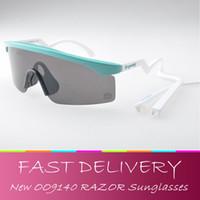 Wholesale Iridium Glasses - Wholesale- NEW Razor sunglasses Heritage Edition Iridium Lens blades oculos del sol men gafas ciclismo outdoor running glasses with box