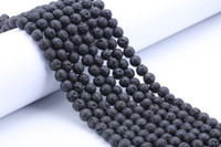 Wholesale Accessories For Women Ceramic - Fashion DIY Accessories Lava Rock Loose beads Black gem Natural stone Beads For women bracelets jewelry making wholesale Bulk Lots