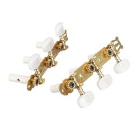 Wholesale Guitar Parts Pegs - A Pair 3R3L Classical Gold Plated Triple Chord Strings Tuning Pegs Tuners Keys For Guitar Replacement Parts & Accessories