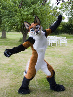 Wholesale Wolf Mascot Custom - OISK Custom Made Fursuit FOXFUR mascot costume Fancy Dress wolf fursuit Halloween party costume Carnival Costume Real pictures
