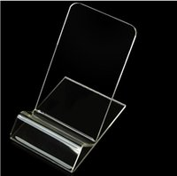 Wholesale Display Stands For Phones - Universal Acrylic Cell phone mobile phone Display Stands Holder stand For iphone samsung HTC Clear Transparent Hard PC Plastic Kickstand
