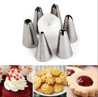 Wholesale Decorating Tube Sets - Stainless Steel Russian Tulip Nozzles Fondant Icing Piping Tips Pastry Tubes Cake Rose Flower Shaped Decorating Tools OOA2457