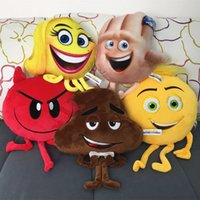 Wholesale Soft Toys Plush Animal - 2017 new The Emoji Movie Plush Toys Soft Dolls Stuffed Animals Toys for Kids Poo Devil Children Xmas Gifts Kids Stuffed Toys C2284
