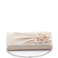Wholesale Blue Satin Evening Bag - Wholesale- Hot 2016 Women Elegant Floral Silk Satin Pleated Clutches Wedding Bridal Chain Evening Bag Party Club Purse Bag Handbags AB0137