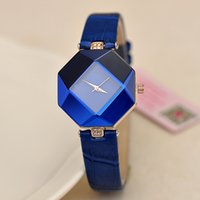 Wholesale Prismatic Shape - Hot Sale Fashion Prismatic Watch Girl Casual Wristwatch Popular Leisure Watches Lady's Favorite Rhombic Clock 5 Colors Wholesale