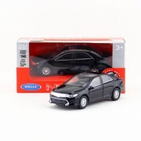 Wholesale Toyota Toy Car Models - Free Shipping Welly 1:34-1:39 Japan Toyota Camry Educational Model Pull back Diecast Metal toy car Gift For collection