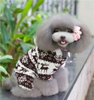 Wholesale New pattern pet dog thickening winter clothes t shirt puppy pullover knitted elastic dog simple casual wear